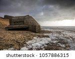 grand pointe casemate in olonne ... | Shutterstock . vector #1057886315