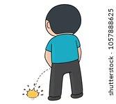 vector of man peeing | Shutterstock .eps vector #1057888625