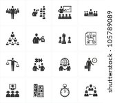 management and business icons | Shutterstock .eps vector #105789089