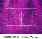 soccer field lines on old paper | Shutterstock . vector #1057892267
