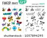 finger prints art. the task... | Shutterstock .eps vector #1057894295