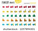 finger prints art. the step by... | Shutterstock .eps vector #1057894301