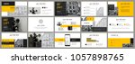 dark grey and yellow elements...   Shutterstock .eps vector #1057898765