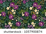 seamless floral pattern.... | Shutterstock .eps vector #1057900874