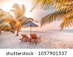 summer holiday background.... | Shutterstock . vector #1057901537