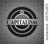 capitalism dark badge | Shutterstock .eps vector #1057911071