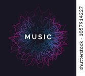 music poster. vector abstract... | Shutterstock .eps vector #1057914227