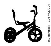 simple silhouette of tricycle | Shutterstock .eps vector #1057927709