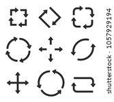 black arrows combinations.... | Shutterstock .eps vector #1057929194