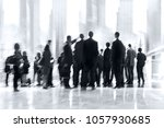 abstract image of people in the ... | Shutterstock . vector #1057930685