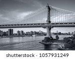 fragment of manhattan bridge... | Shutterstock . vector #1057931249