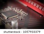 circuit board with resistors... | Shutterstock . vector #1057933379
