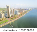 aerial view bay front corpus... | Shutterstock . vector #1057938035