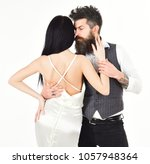 couple in love  bride and groom ... | Shutterstock . vector #1057948364
