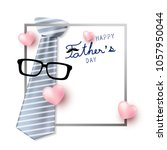 happy father's day concept... | Shutterstock .eps vector #1057950044