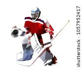 ice hockey goalie  polygonal... | Shutterstock .eps vector #1057952417