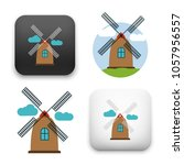 windmill icon   netherlands or... | Shutterstock .eps vector #1057956557