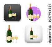 illustration of champagne... | Shutterstock .eps vector #1057956584