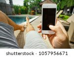 summer rest. relax in the hotel ... | Shutterstock . vector #1057956671