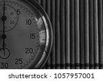 vintage antiques stopwatch ... | Shutterstock . vector #1057957001