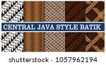 central java style batik... | Shutterstock .eps vector #1057962194