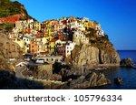 manarola village  cinque terre  ... | Shutterstock . vector #105796334