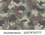 camouflage seamless pattern... | Shutterstock .eps vector #1057970777