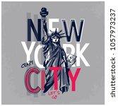 statue of liberty vector... | Shutterstock .eps vector #1057973237