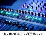 Sound Check For Concert. Mixer...