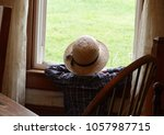 Amish Boy Looking Out House...