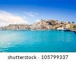 Eivissa Ibiza Town With Church...