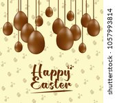 happy easter lettering... | Shutterstock .eps vector #1057993814