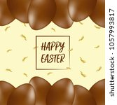 happy easter lettering... | Shutterstock .eps vector #1057993817