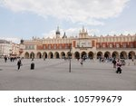 Renaissance Sukiennice (Cloth Hall, Drapers' Hall) in Krak�³w, Poland, is one of the city's most recognizable icons. - stock photo