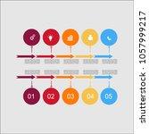 business infographic.vector... | Shutterstock .eps vector #1057999217