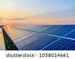 solar panel  photovoltaic ... | Shutterstock . vector #1058014661