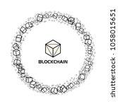 blockchain business technology... | Shutterstock .eps vector #1058015651