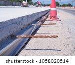 rebars or steel rods in... | Shutterstock . vector #1058020514