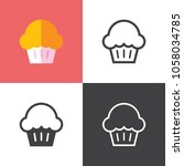 muffin icons 2018 | Shutterstock .eps vector #1058034785