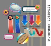 stickers and banners set | Shutterstock .eps vector #105804131