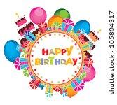 birthday card | Shutterstock .eps vector #105804317