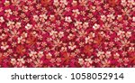 seamless floral pattern. cute... | Shutterstock .eps vector #1058052914