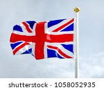 national flag of the great... | Shutterstock . vector #1058052935