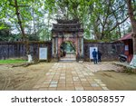 hue  vietnam 08 march 2018 ... | Shutterstock . vector #1058058557