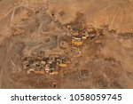 aerial view of houses and... | Shutterstock . vector #1058059745