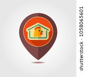 chicken house pin map icon....