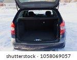 the trunk of a car. open trunk... | Shutterstock . vector #1058069057