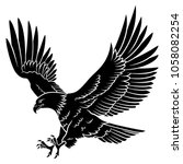 bald eagle silhouette isolated... | Shutterstock .eps vector #1058082254