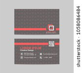 abstract business card ... | Shutterstock .eps vector #1058086484