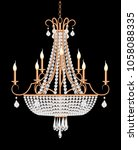 Illustration Of A Chandelier...